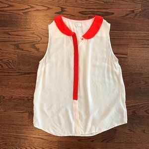 Anthropologie Sleeveless Swiss Dot Shirt